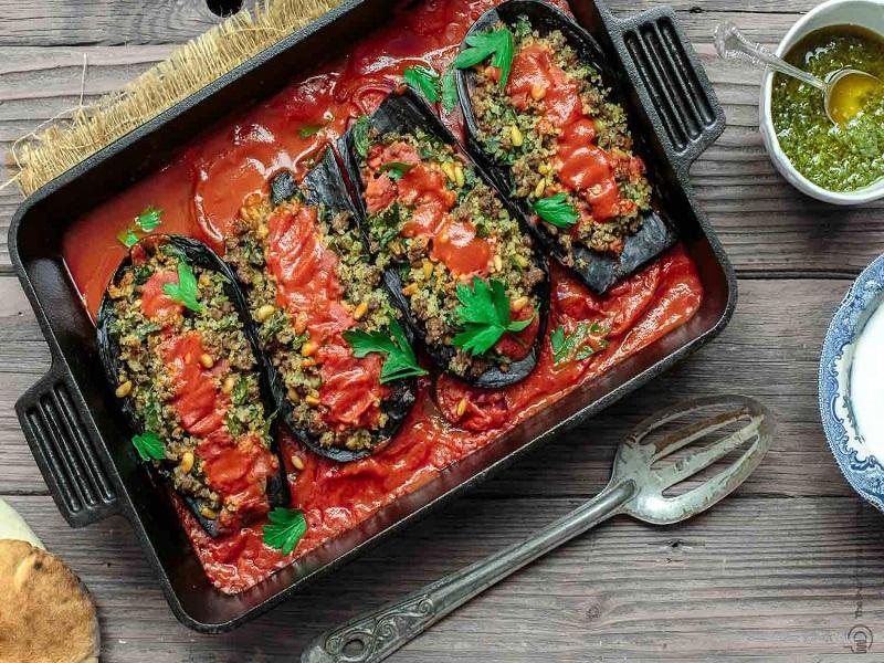 طرز تهیه خوراک گوجه
